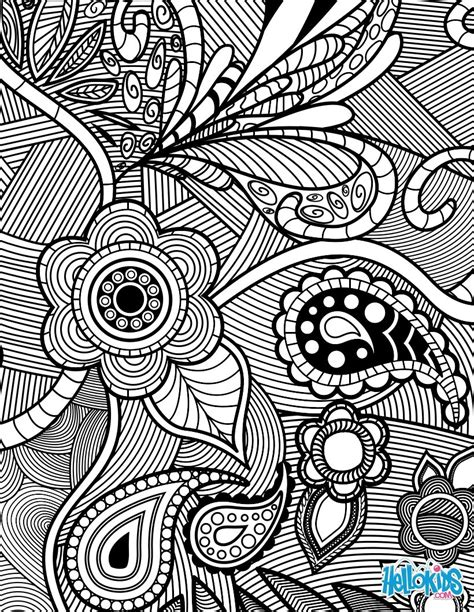 flowers paisley design coloring pages hellokidscom