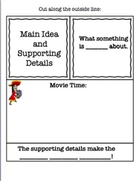 main idea and supporting details powerpoint and interactive notebook file