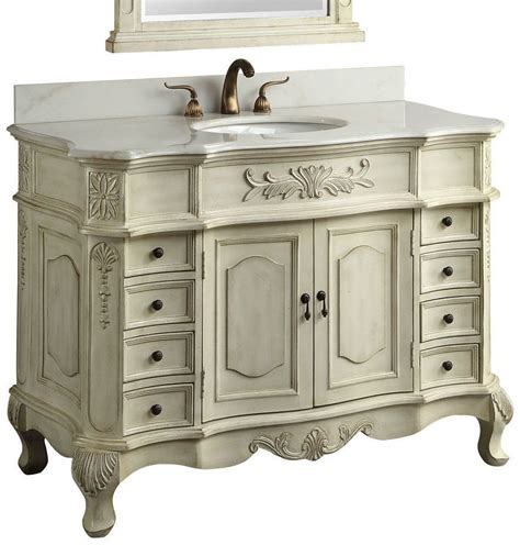 bathroom vanity antique white traditional