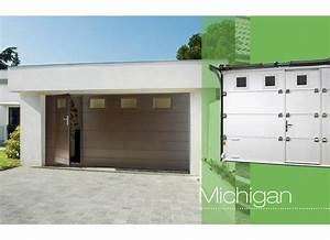porte de garage michigan sectionnelle exterieur With porte de garage 4m