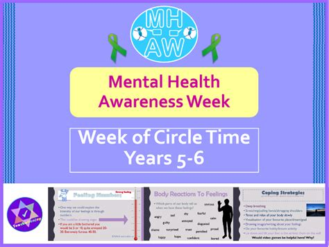 mental health awareness week circle time activities year 5