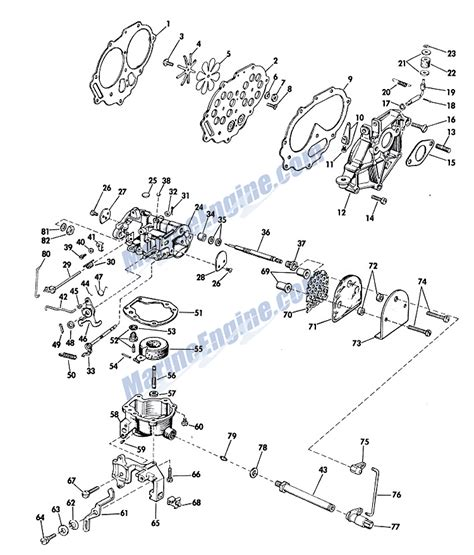 20 Hp Johnson Outboard Diagram by Johnson Carburetor Parts For 1967 20hp Fd21 Outboard