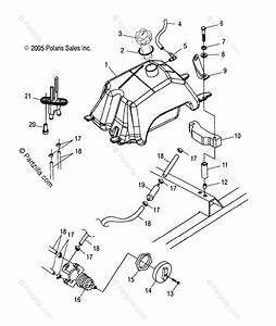 Polaris Atv 2006 Oem Parts Diagram For Fuel System   Ab
