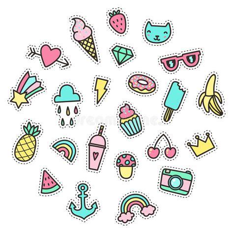 kleine symbole nette lustige kleine gegenst 228 nde lebensmittel symbole usw vektor abbildung illustration