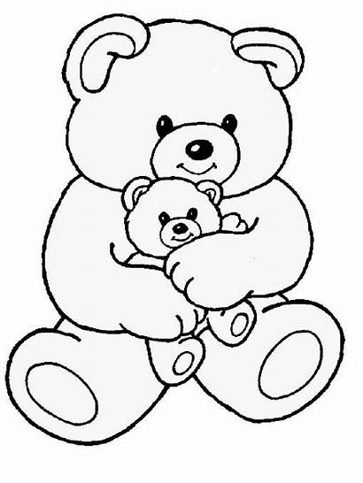 Coloring Pages Teddy Bear Colouring Drawing Tinkerbell