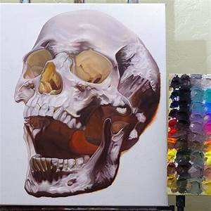 Skull Oil Paintings by Chad Pierce