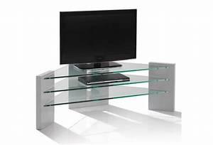 Meuble Tele Moderne : meuble tv angle moderne meuble tv blanc suspendu maison boncolac ~ Teatrodelosmanantiales.com Idées de Décoration