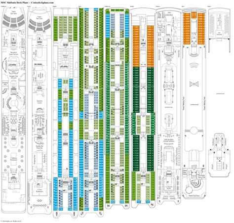 msc opera cabin layout msc sinfonia deck plans diagrams pictures