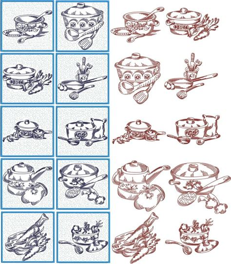 kitchen embroidery designs free advanced embroidery designs kitchen quilt block set 4740