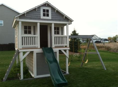 sheds and swings playhouse turn our swing set into this maybe