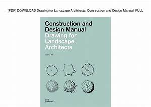 Pdf  Download Drawing For Landscape Architects