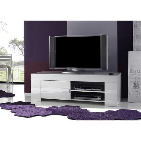 meuble tv laqu 233 blanc 1 porte eos soldes d hiver