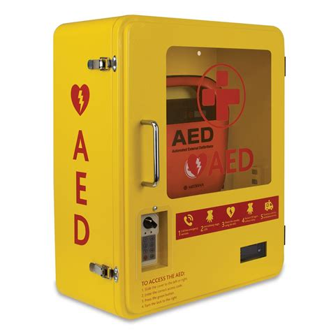 Defibrillator Cabinet by Aed Outdoor Steel Cabinet Lockable With Digital Key Code Pad