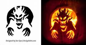 10 Free Halloween Scary  U0026 Cool Pumpkin Carving Stencils    Patterns