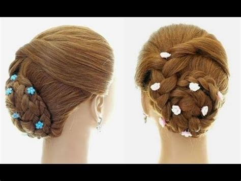 braided hairstyle  everyday updo  long hair youtube