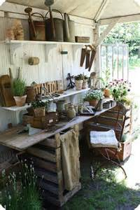 Garden Potting Shed Table