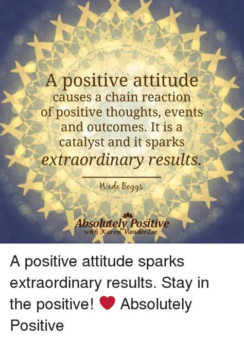 positive attitude   chain reaction  positive