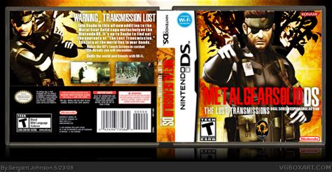 metal gear solid  lost transmissions nintendo ds box