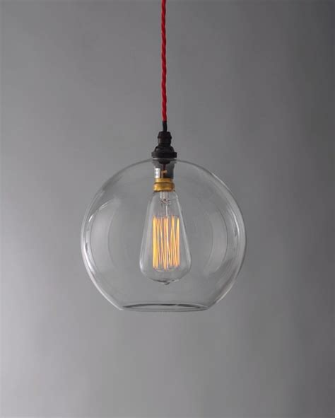 hereford clear glass globe pendant light fritz fryer