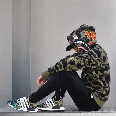 BAPE PONR Camo Hoodie x adidas NMD BAPE   i fucks with this   Pinterest   Adidas nmd