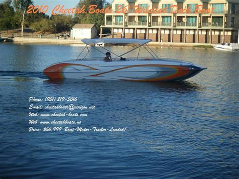Cheetah Wildcat Boat by 2010 Cheetah Boats 26 Wildcat Deck Boat Powerboat For Sale