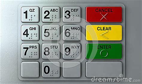 atm keypad closeup stock illustration image