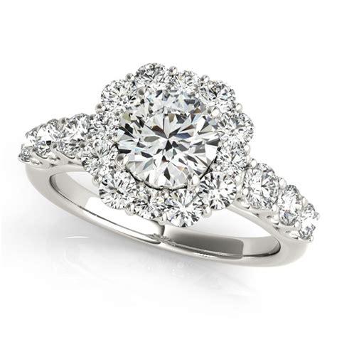 engagement rings flower design frame engagement ring flower design 14k white