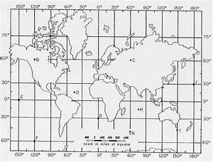 Latitude And Longitude Practice Map