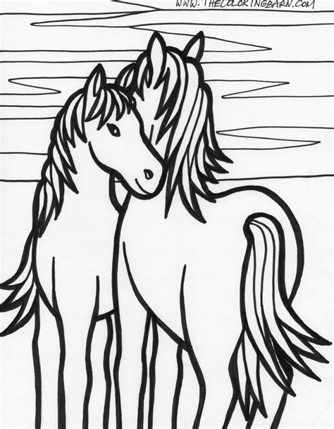 Kleurplaat Horses by Coloring Pages Only Coloring Pages