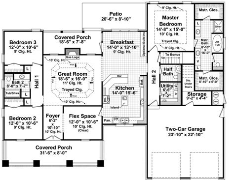 craftsman floorplans the landing 7142 3 bedrooms and 2 baths the house designers