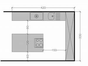 plan de cuisine avec ilot central les 6 exemples a With plan de cuisine avec ilot