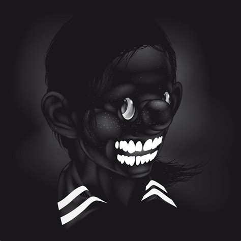 Black Cartoon Photography Art