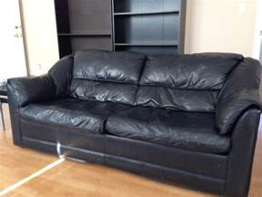 Leather Hide a Bed Couch