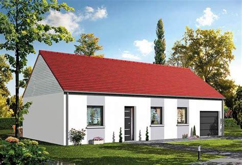 plan maison plein pied 4 chambres modèles et plans de maisons plain pied habitat concept