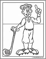 Coloring Golf Golfer Sheet Pages Colorwithfuzzy Pdf sketch template