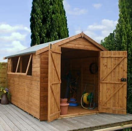 Shiplap Or Tongue And Groove Shed - 12 x 8 door shiplap tongue and groove apex shed
