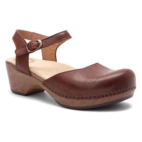 top grain leather turnshoeson dansko s sam sandals in brown
