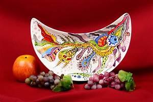 Mikrowelle Geschirr Glas : madeheart handmade teller aus glas geschirr aus glas glasteller farbig sch n grell toll ~ Watch28wear.com Haus und Dekorationen