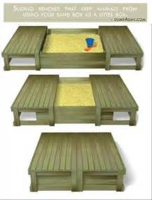 Genius Plans For Benches genius ideas covered sand box dump a day
