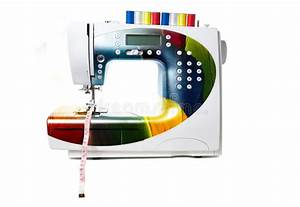 Colored Modern Sewing Machine Stock Photo - Image of work ...