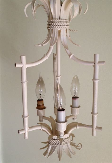 vintage faux bamboo chandelier chinoiserie bali hai henry link