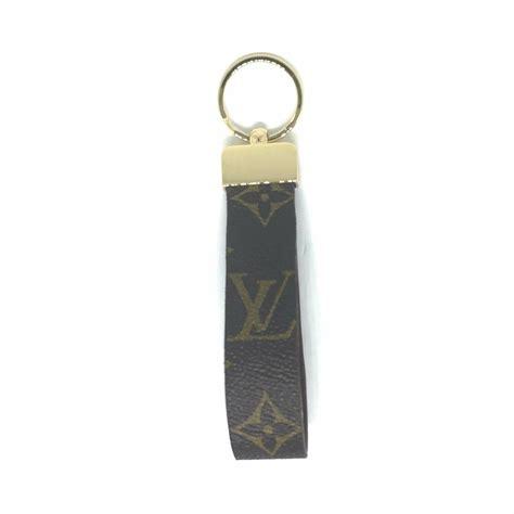 repurposed louis vuitton monogram canvas keychain key fob ring charm
