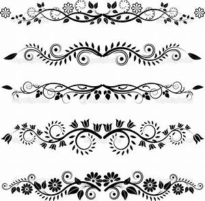 Image detail for -Floral borders and ornaments   Stock ...