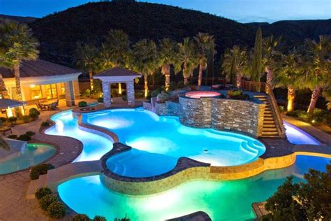 copper lazy luxury home pools luxury estate