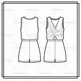 Flat Jumpsuit Coloring Template Templates Romper Sketch Cross sketch template