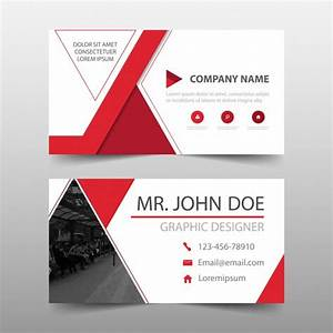 Elegant modern red commercial business card Vector Free Download