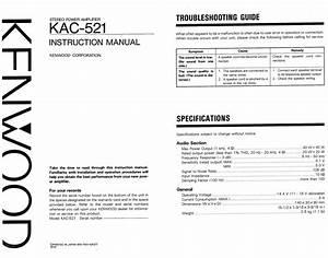 Kenwood Kac 1020 Manually