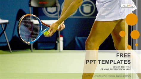 young female tennis player sports powerpoint templates
