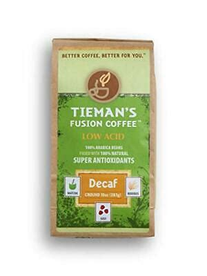 I know for me personally. Tieman's Fusion Coffee Low Acid Decaf Ground 10 ounce bag ...
