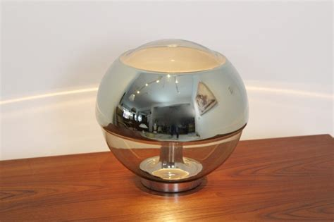 glass globe table l exquisite peill putzler chromed mirror full glass table l